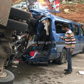 بالصور: حادث مروع يوقع بـ10 جرحى