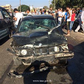 بالصور: قتيل وجريح نتيجة حادث سير مروع في عكار