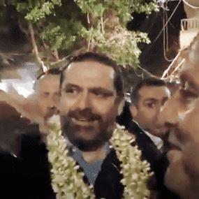 بالفيديو: الحريري ينثر الماء على رأس قائد الحرس الحكومي!