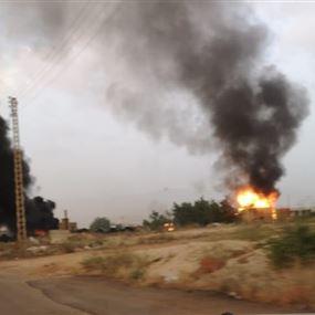 بالصورة: إحراق منزل قاتل عباس الأحمر في بريتال