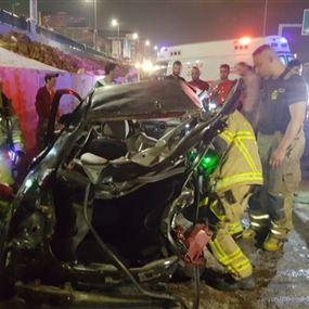 ثلاثة جرحى اثر حادث سير على طريق المطار