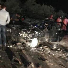 بالصور: مقتل نجل رئيس البلدية وجرح 6 بحادث سير في الضنية