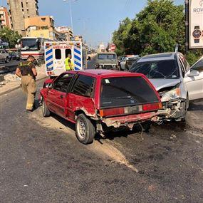 سبعة جرحى اثر حادث سير في جونية