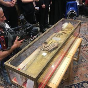 بالفيديو والصور: ذخائر القديسة مارينا في بيروت