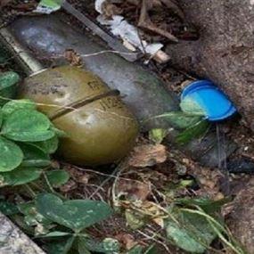 العثور على قنبلتين يدويتين في نهر الذهب كسروان