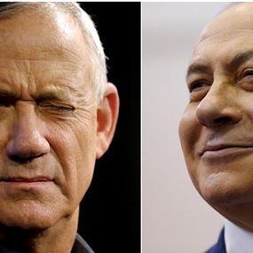 نتنياهو ومنافسه غانتس يعلنان الفوز في الانتخابات الاسرائيلية