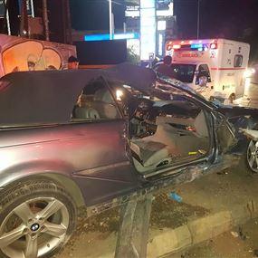 بالصور: جريحان اثر حادث سير في الدورة