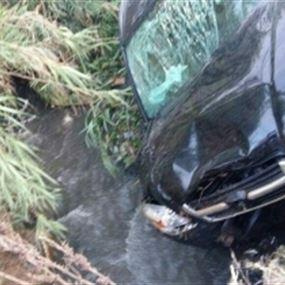 بالصور- حادث سير على طريق عام البيادر- ببنين