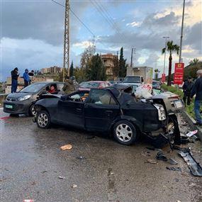 بالصور: قتيلان في حادث سير مروّع