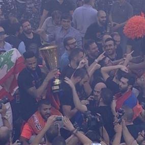 للمرة الأولى في تاريخه.. الهومنتمن يتوّج بطل لبنان بكرة السلة