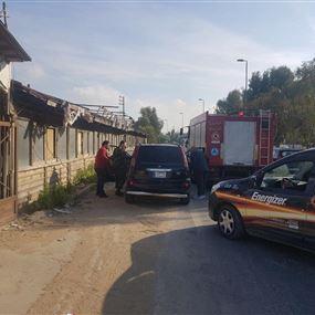 بالصور: ثلاثة جرحى اثر حادث سير عند مفترق مغدوشة
