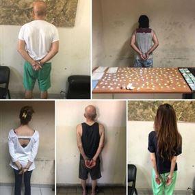 توقيف مروجَي مخدرات وعدد من زبائنهما من قبل شعبة المعلومات