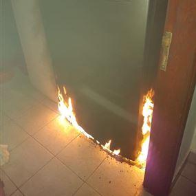 حريق داخل شقة في سدّ البوشرية