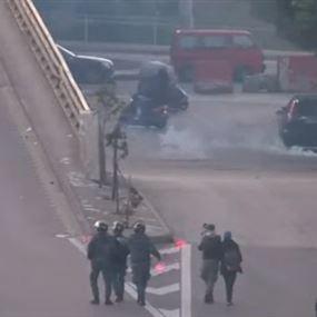 بالفيديو.. هكذا تم الإعتداء على قوى الأمن في بيروت