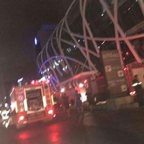 بالصور: حريق داخل LE MALL ضبية