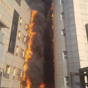 بالفيديو والصور: حريق هائل في مستشفى باسطنبول!