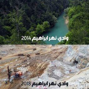 بلدية نهر ابراهيم تناشد المعنيين وقف المجازر البيئية