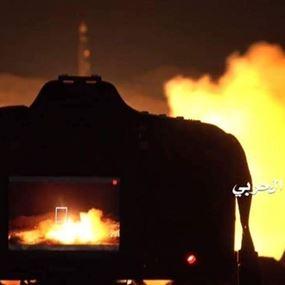بالفيديو: لحظة إطلاق صاروخ بركان على مطار الملك خالد بالرياض