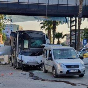 انفجار في حافلة جنوب تركيا.. وسقوط خمسة جرحى