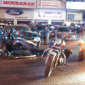 بالصور: جريح نتيجة حادث سير في الزلقا