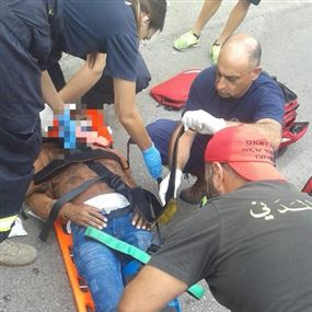 ثلاثة جرحى اثر حادث سير في جعيتا