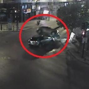 بالفيديو: حادث سير مروّع نتيجة عدم إحترام الاشارات