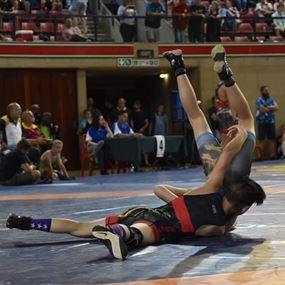 للمرة الثانية.. اللبناني ابن الـ11 عاماً بطل مصارعة في جنوب أفريقيا