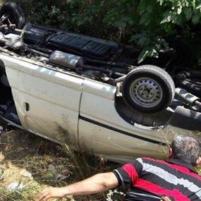 بالصورة: حادث سير في عين الحور- الشوف