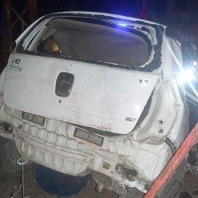 وفاة 3 اطفال وسيدتين في حادث سير ليلاً