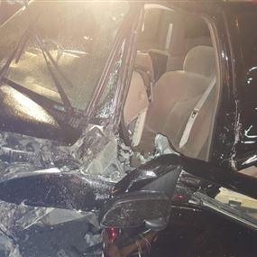 جريحان اثر حادث سير مروع على أوتوستراد جونية