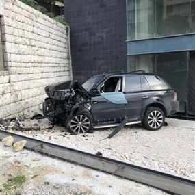 جريح اثر حادث مروري على طريق عام صربا