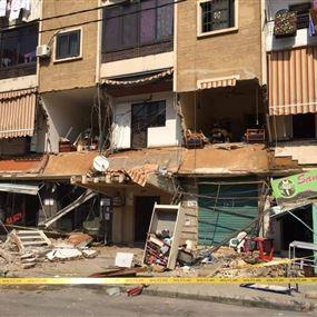بالفيديو: لحظة انهيار جزء من مبنى سكني في سن الفيل - النبعة