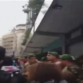 اشكال محدود أمام أحد المصارف في بيروت (فيديو)