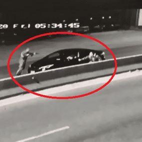 بالفيديو.. لحظة توقيف أحد أفراد عصابة تُهرّب السيارات المسروقة