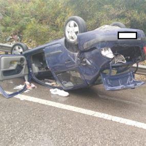 بالصور: جرحى جراء حادث على اوتوستراد دوحة الحص