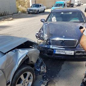 جريحان اثر حادث سير