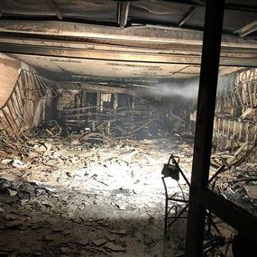 حريق في الرّبوة داخل مقهى مُقفل قد يكشف عن مفاجأة؟!