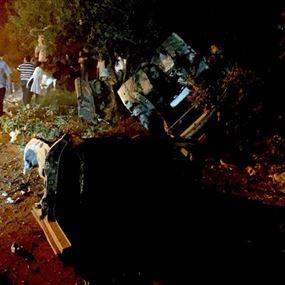 خمس جريحات في حادث سير ليلاً