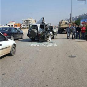 حادث سير مروّع على اوتوستراد القلمون