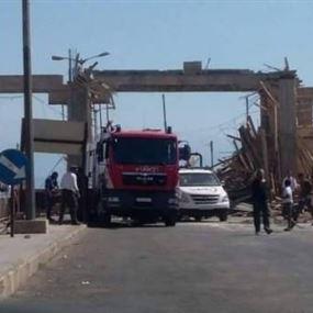 قتيل بإنهيار سقف عند معبر العريضة الحدودي بين لبنان سوريا