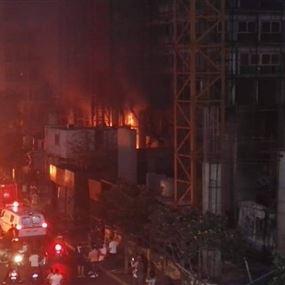 ضحايا الغضب.. قضيا في حريق أحد الأبنية في ساحة الشهداء