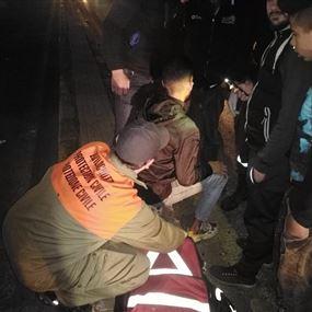حادث صدم على طريق المطار