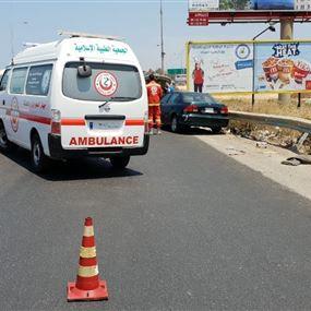 إصابة اربع نساء نتيجة حادث سير