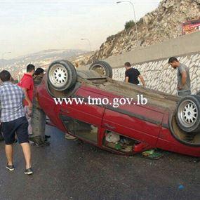 بالصور: حادث سير مروّع في السعديات