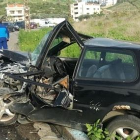 بالصور: جريحان في حادث سير