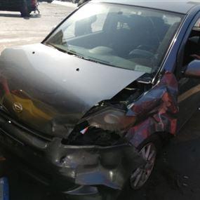 جريحة جراء حادث سير على طريق عام الشبريحا