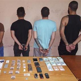 توقيف شخصين يمتهنان ترويج المخدرات والسرقة واثنين من زبانئهما
