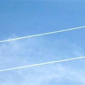 تحليق مكثف للطيران الحربي الاسرائيلي في أجواء عدد من المناطق