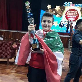 رودي حداد.. من الأوائل في المسابقة العالمية للحساب الذهني الفوري
