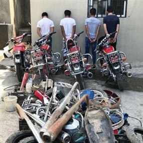 بالصورة: عصابة تسرق الدراجات النارية منذ 5 اشهر